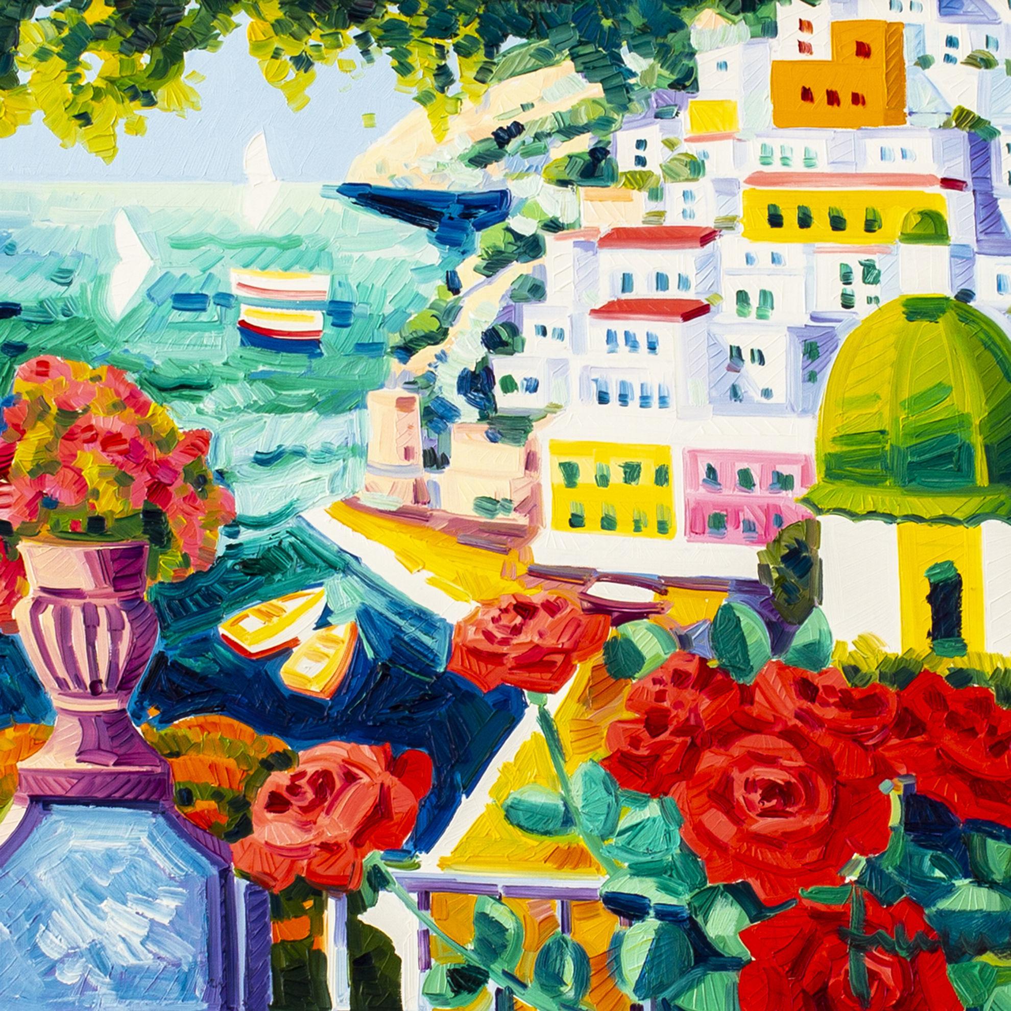 Immagine di Rose rosse e poesia a Positano