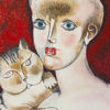 Immagine di Ragazza con gatto