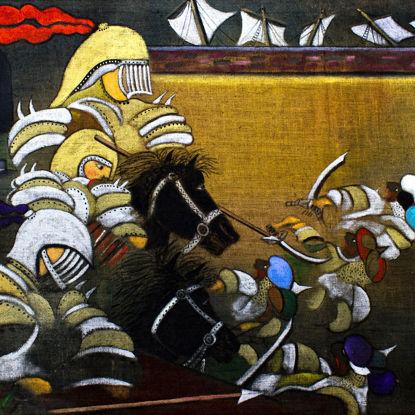 Immagine di Sconfitta dei Saraceni al molo...