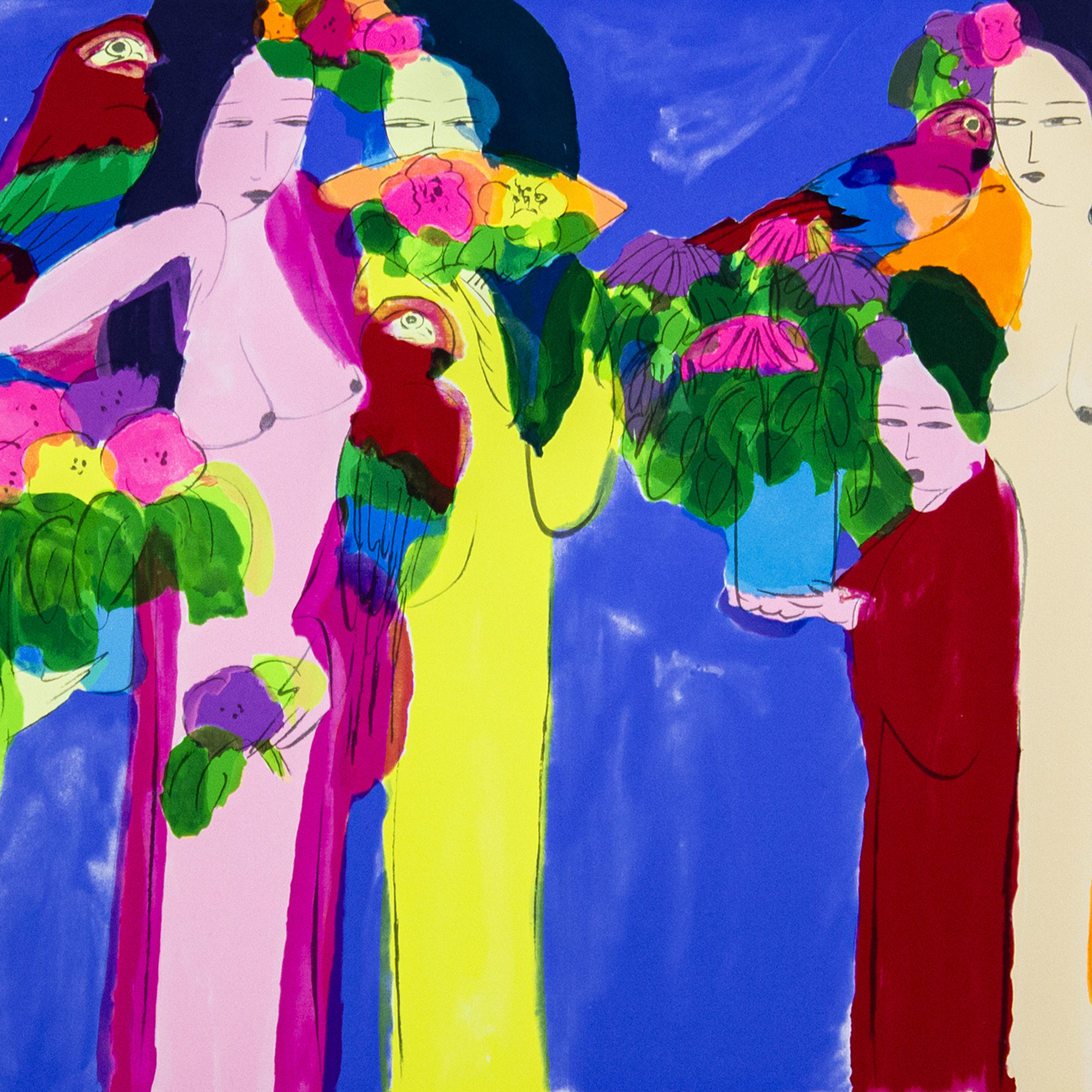 Immagine di Donne con pappagalli