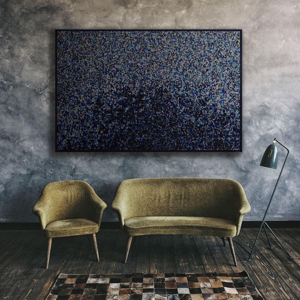 Immagine di Blu mum - Quadro moderno astratto