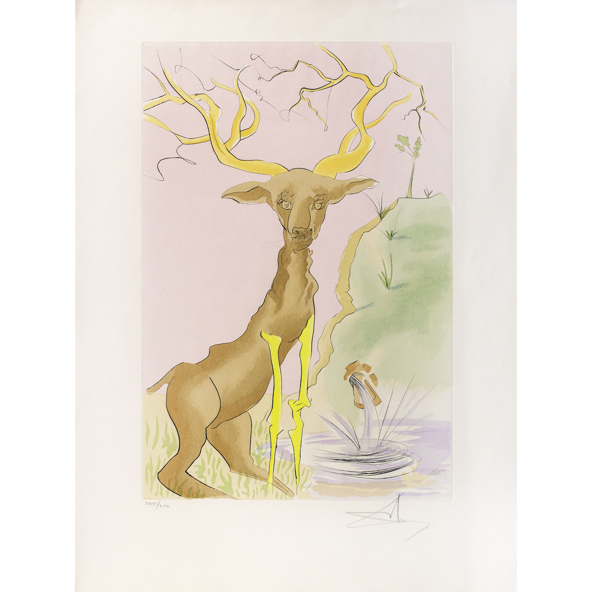Immagine di Le cerf se vojant dans l'eau