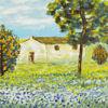 Immagine di Casolare con albero d'arancio