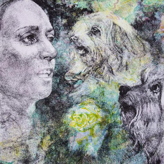 Immagine di Netta con due cani