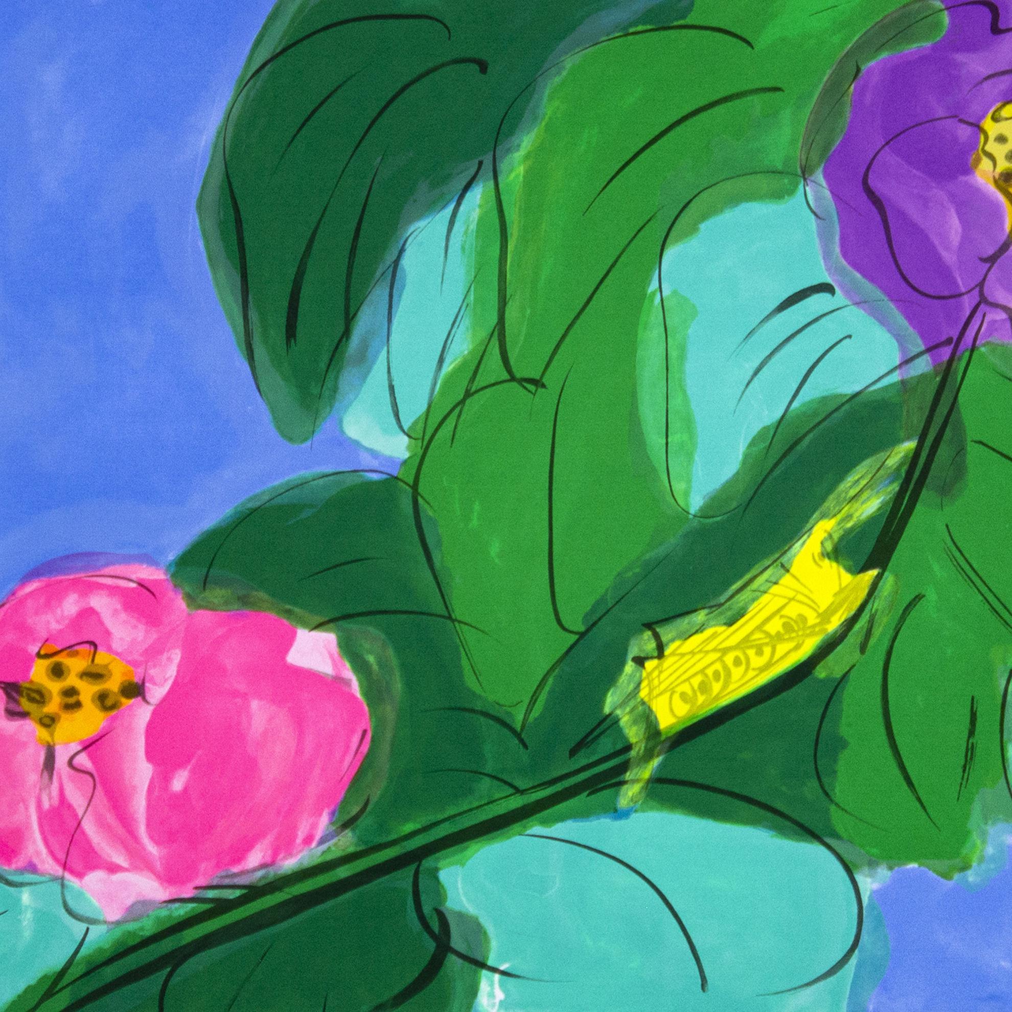 Immagine di Fiore con cavalletta