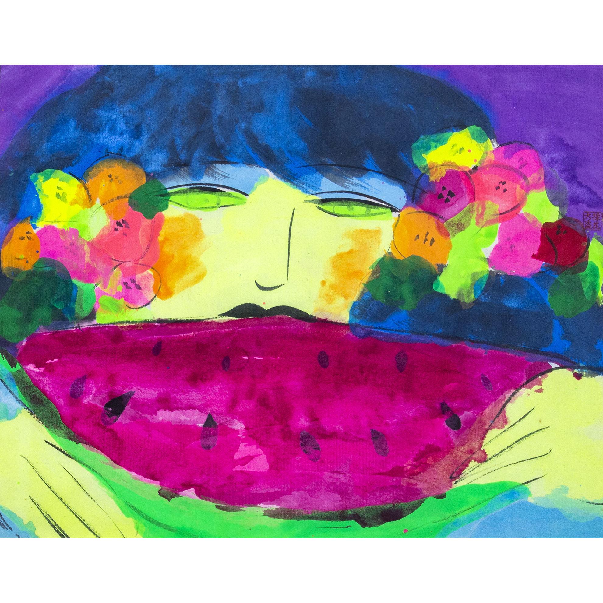 Immagine di Donna con anguria