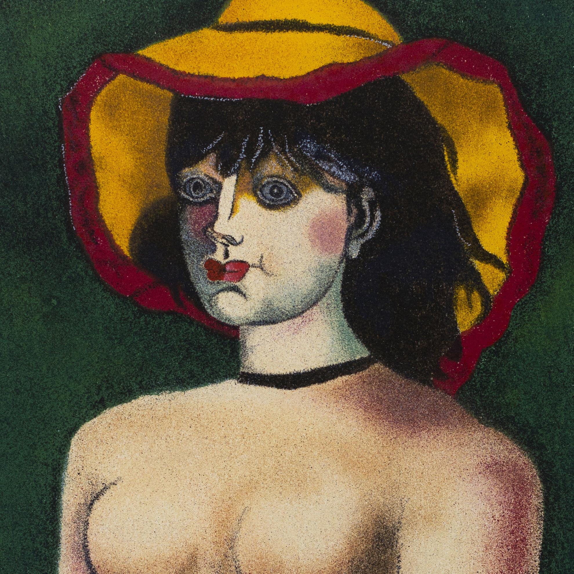 Immagine di Donna con cappello giallo