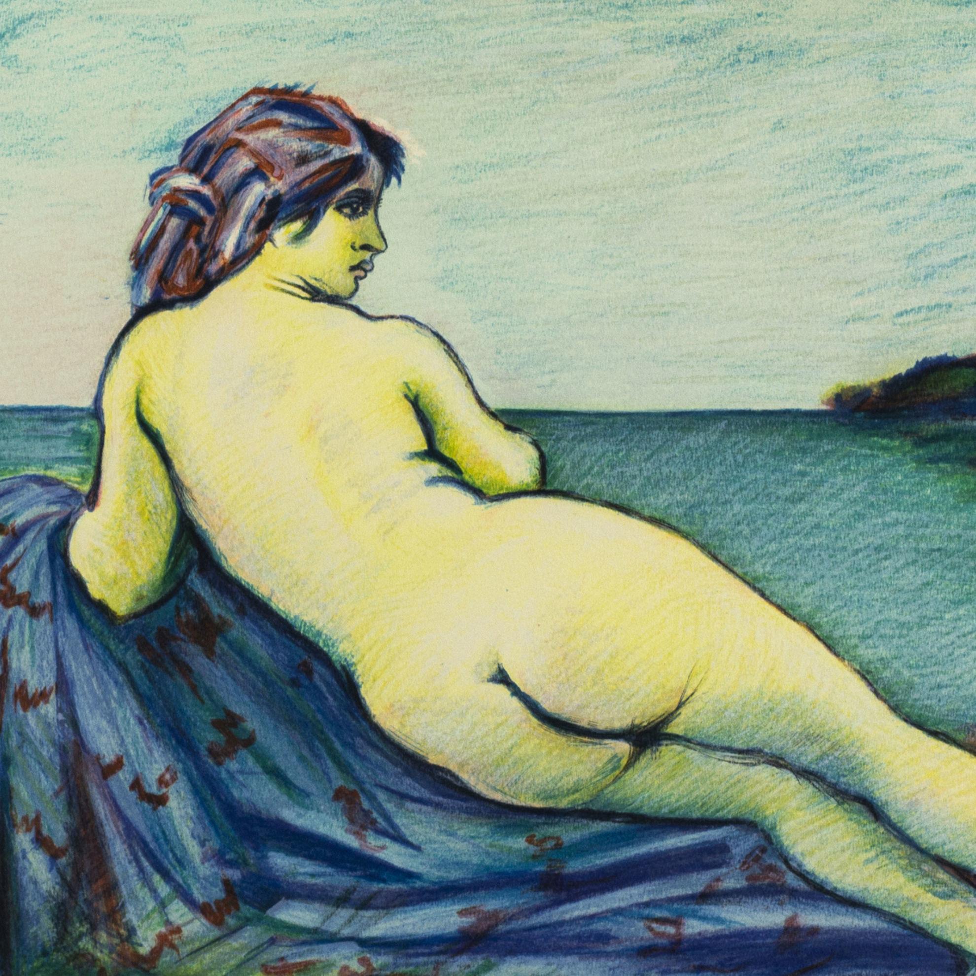 Immagine di Ragazza nuda sulla spiaggia