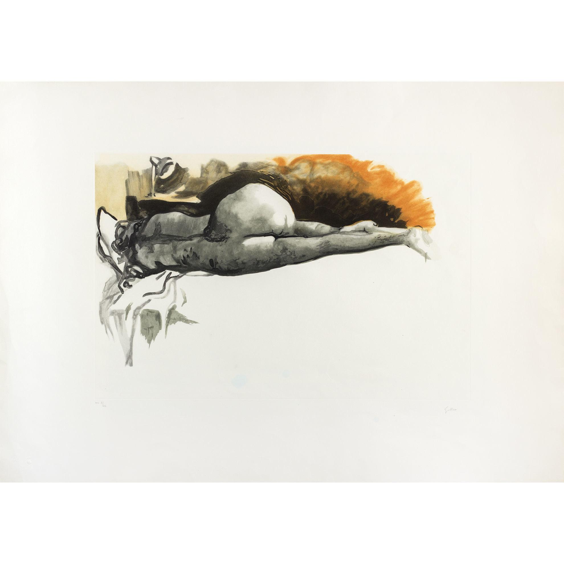 Immagine di Nudo sdraiato di schiena