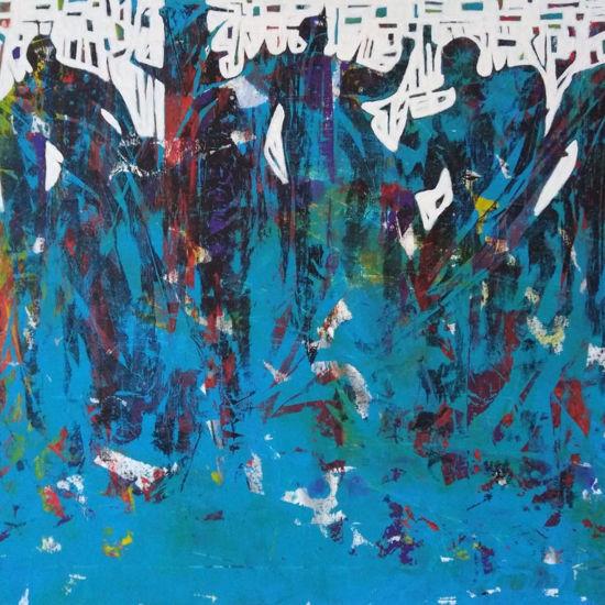 Immagine di Percorsi astratti nel blu