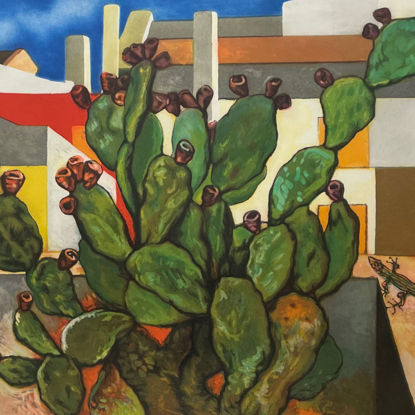 Immagine di Cactus con lucertola