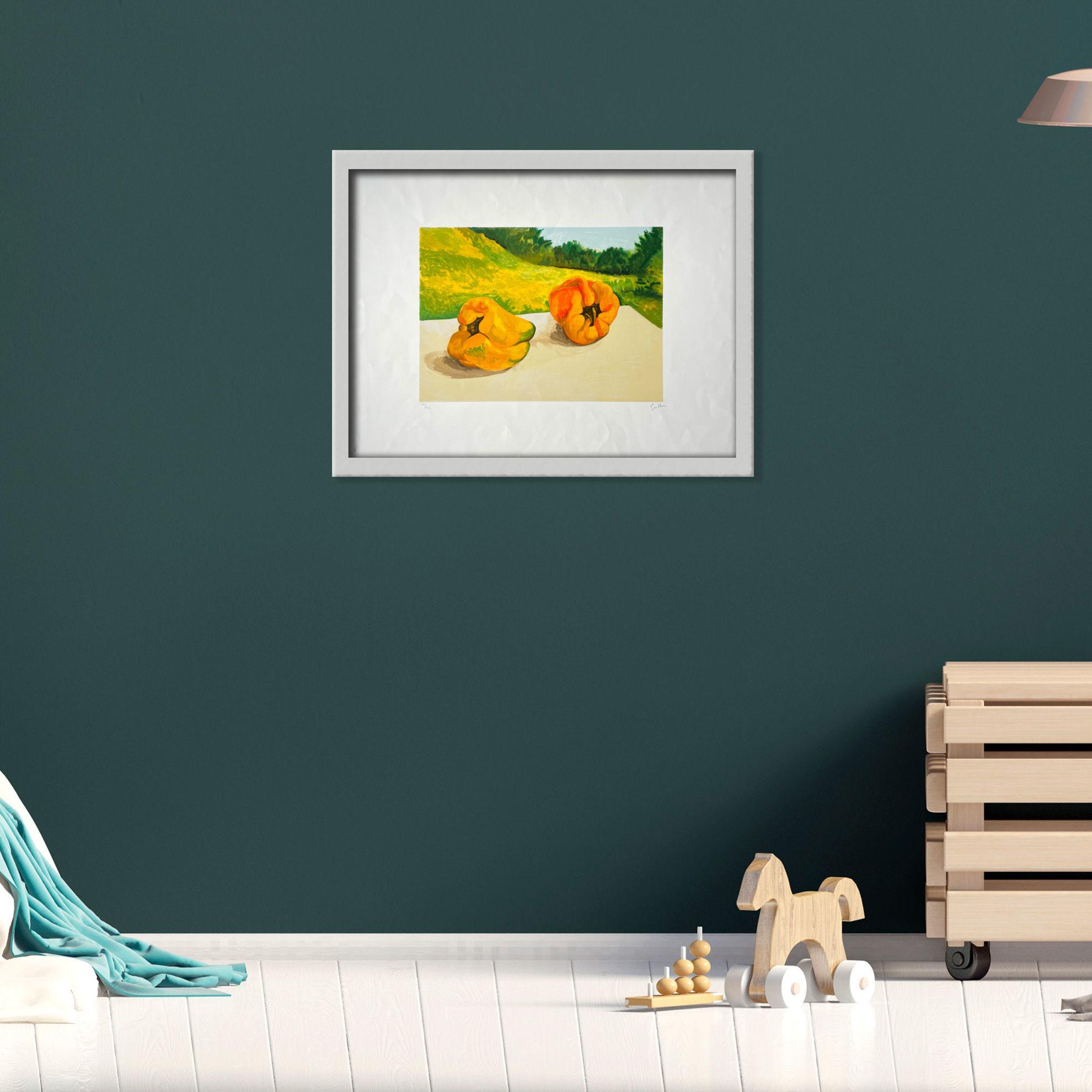 Immagine di Peperoni con paesaggio