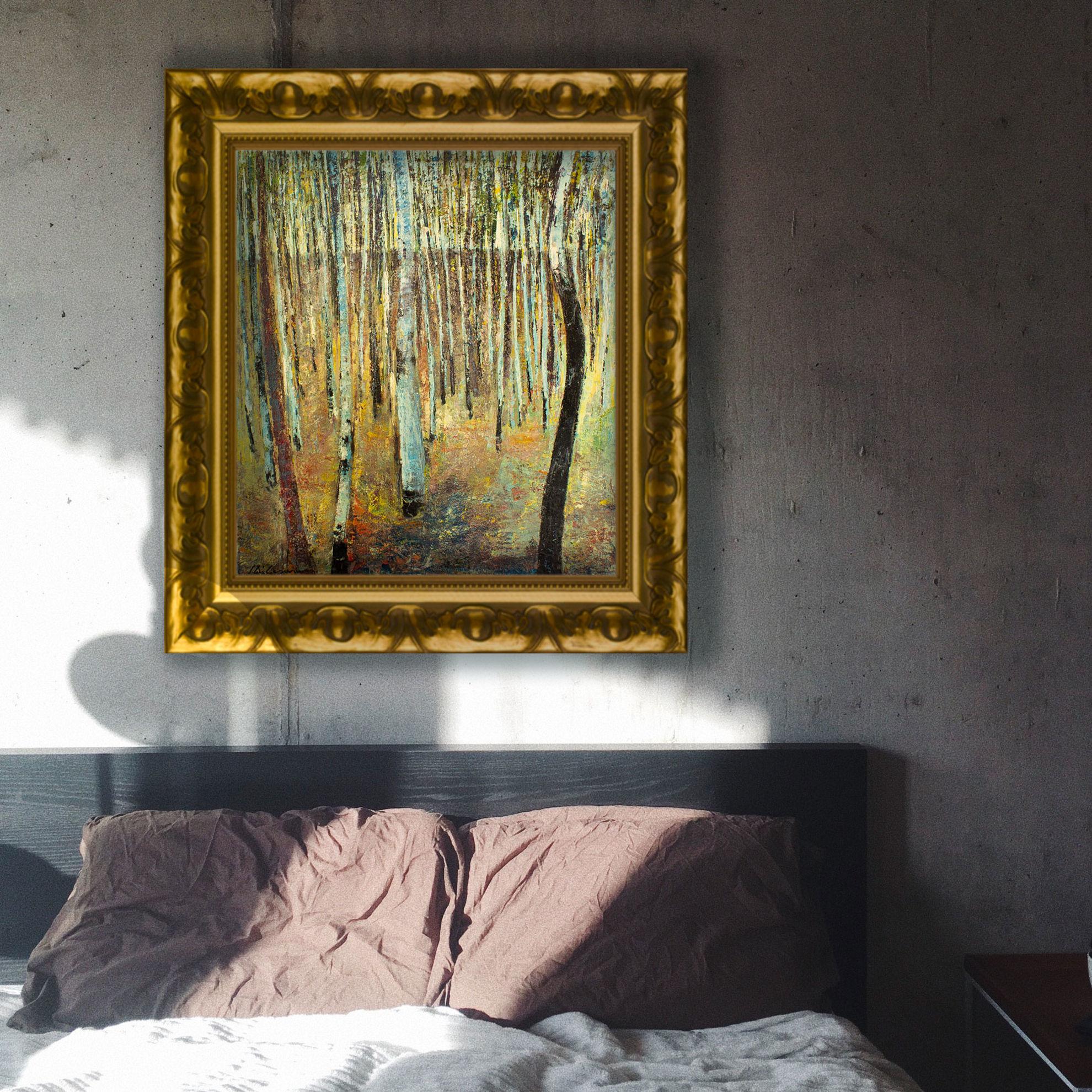 """Immagine di Omaggio a Klimt """"Bosco di faggi"""""""