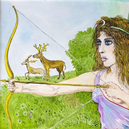 Immagine di Artemide dea della caccia