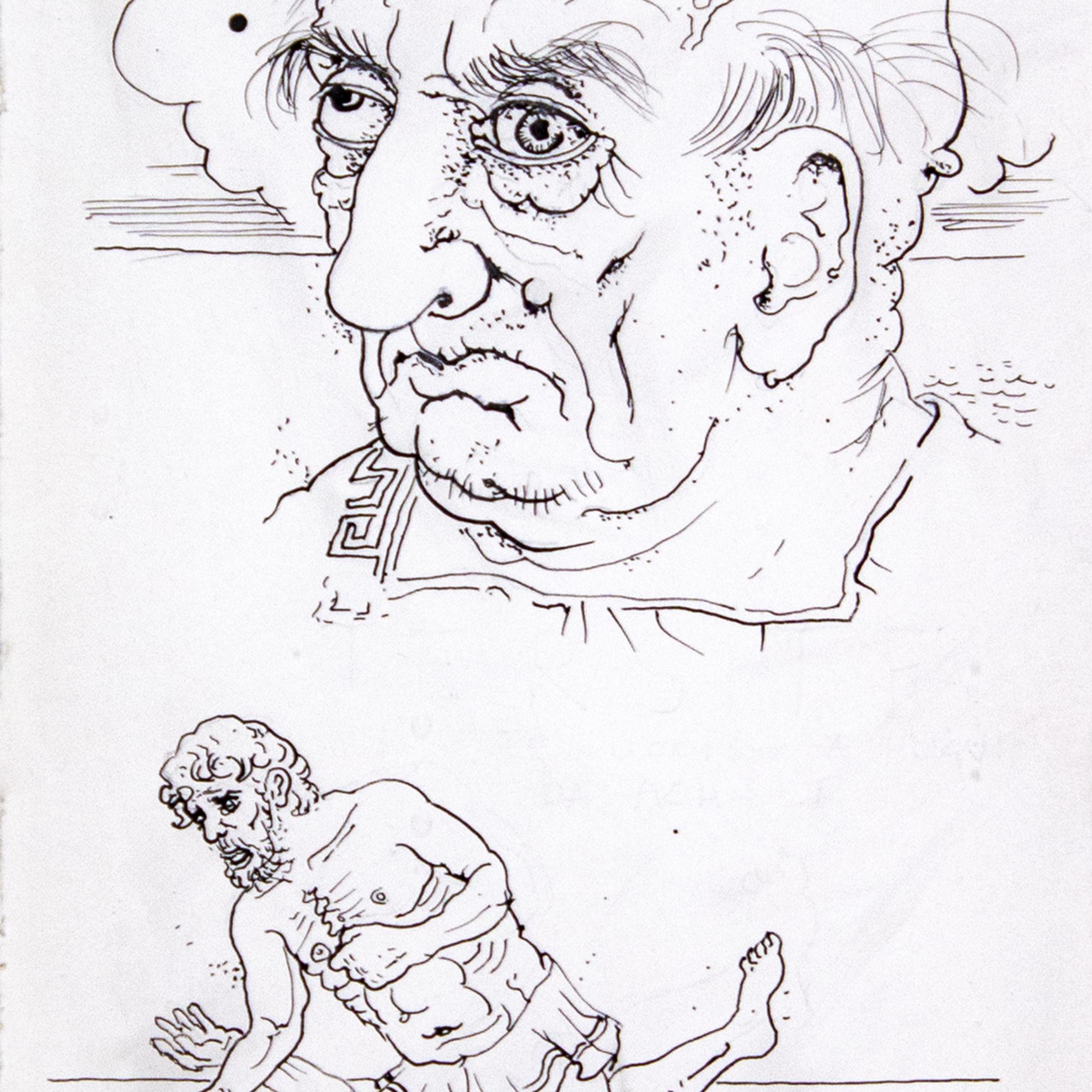 Immagine di Tersite ucciso a pugni da Achille