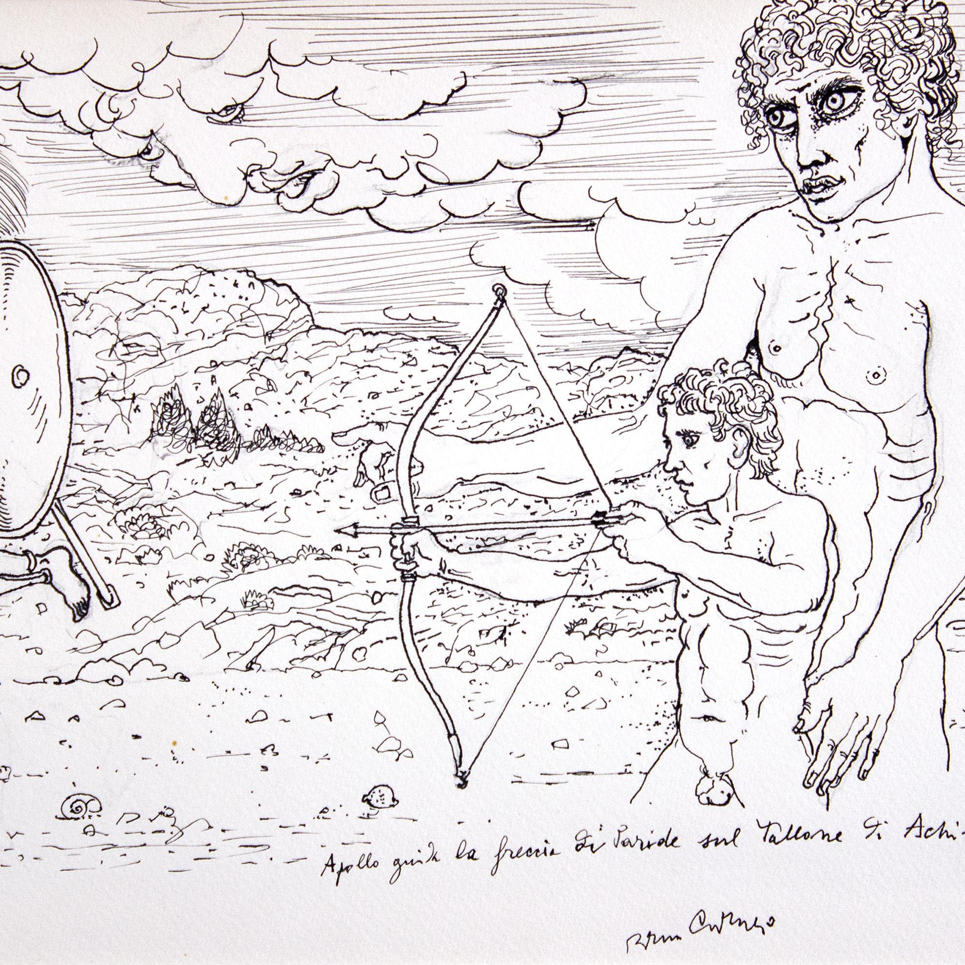 Immagine di Apollo guida la freccia di Paride