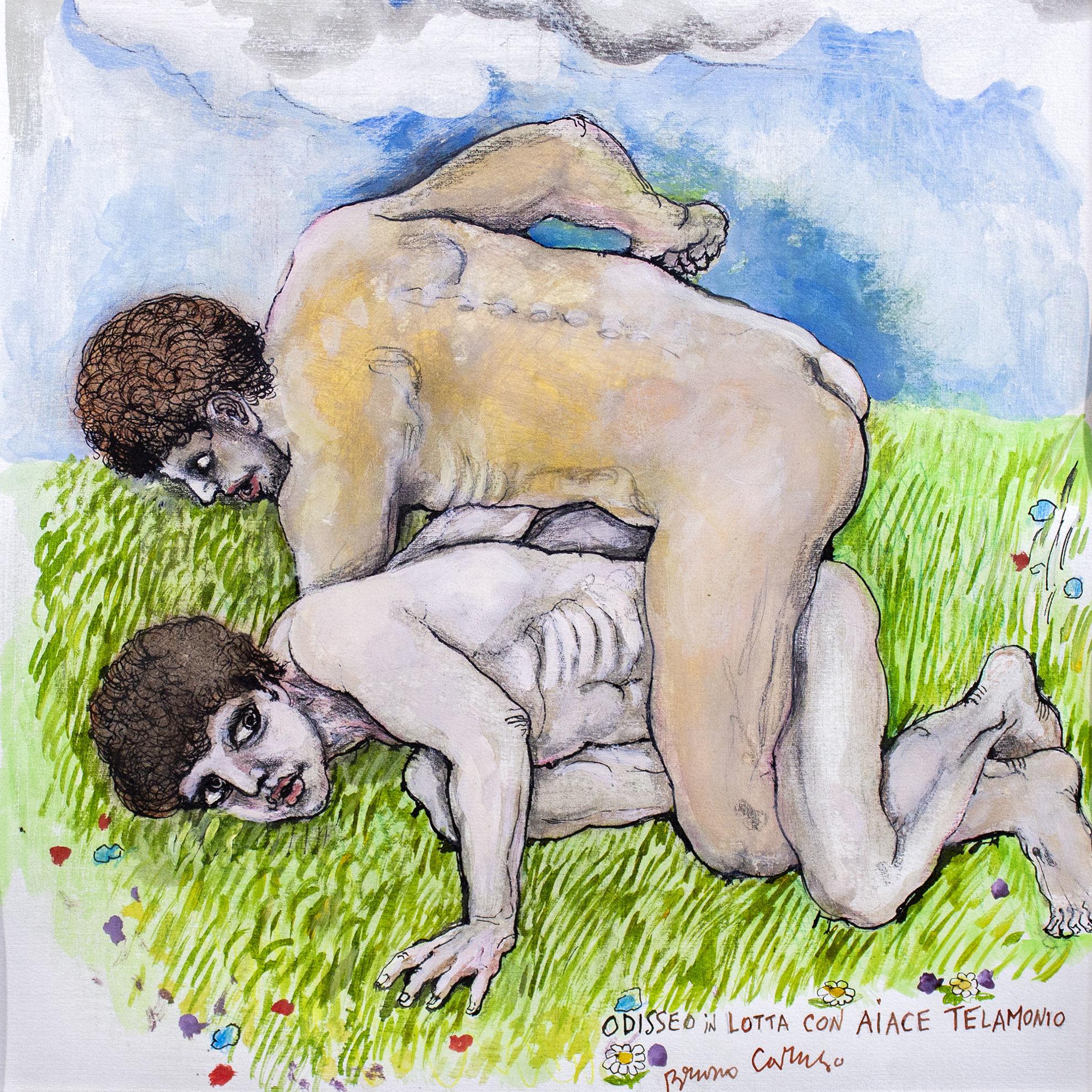 Immagine di Odisseo in lotta con Aiace Telamonio
