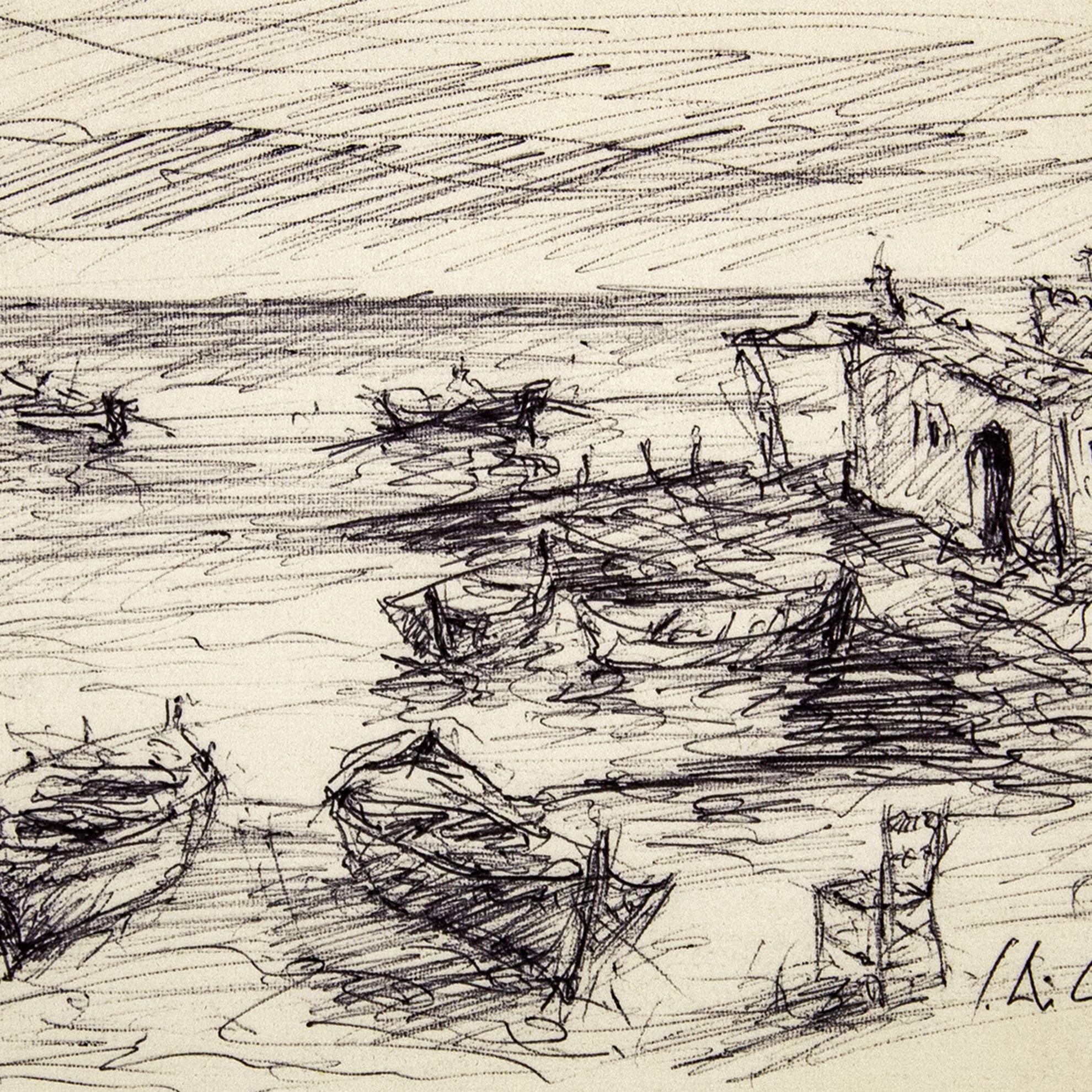 Immagine di Vecchie barche a riva