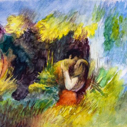 """Immagine di Bozzetto di """"Amanti in giardino"""""""