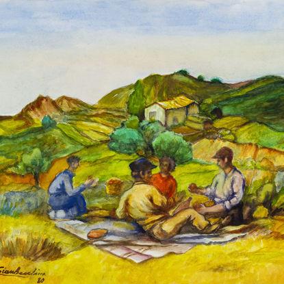 """Immagine di Bozzetto di """"Dejeuner sur l'herbe"""""""