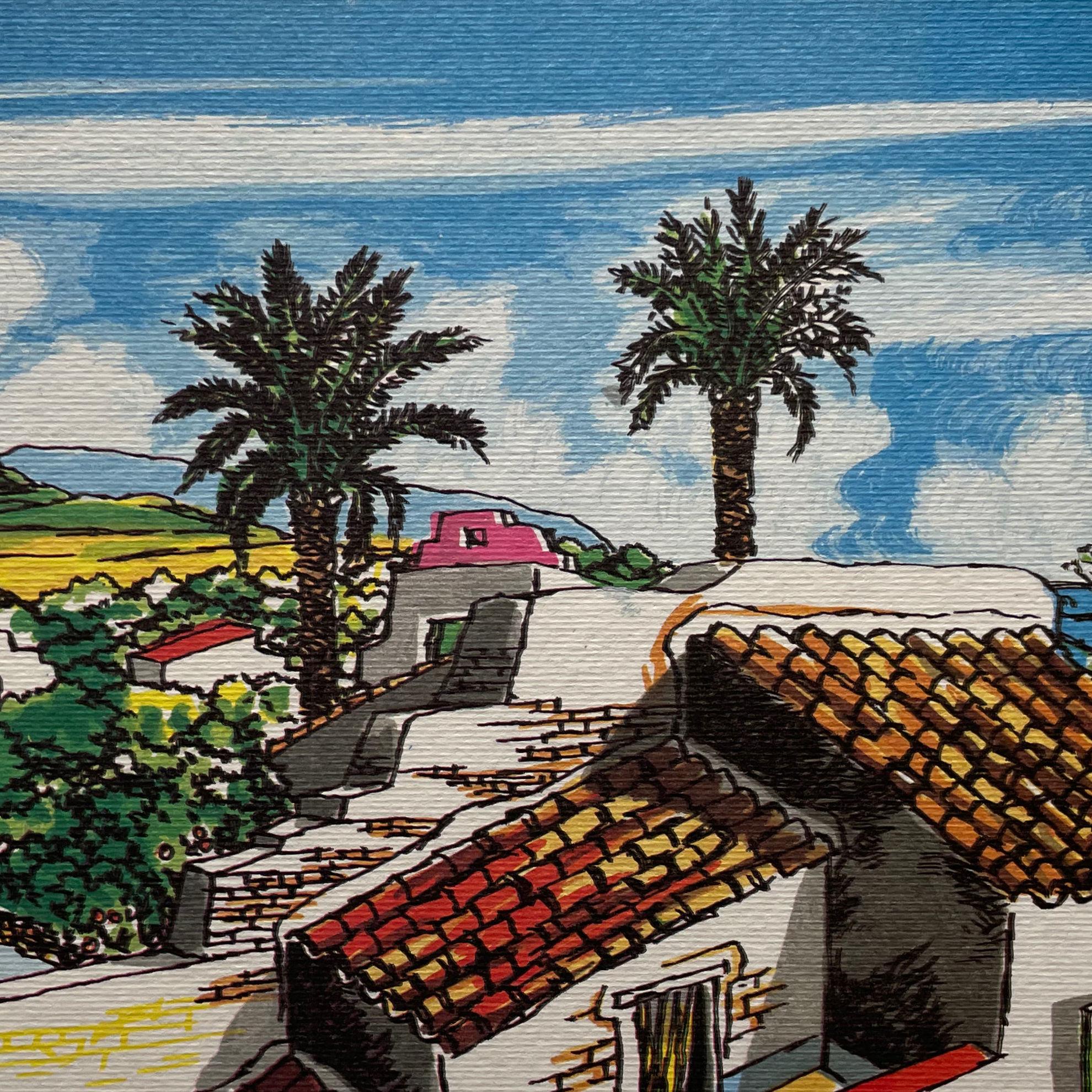 Immagine di Palme e vecchie case di Roccapalumba