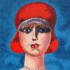 Immagine di Donna con cappello rosso